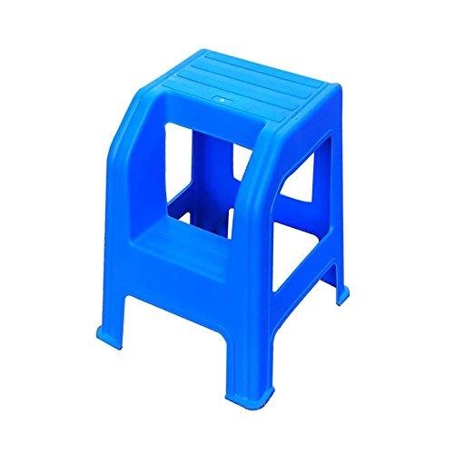 AJS Car Wash Hocker 2 Stufenleiter Hocker Erwachsene Und Kinder Zu Hause Kleine Fußstütze Ändern Schuh Hocker Kunststoff A+ (Farbe : Blau)