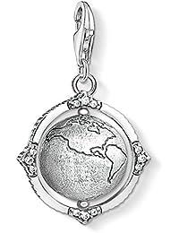 Thomas Sabo Women's 925 Sterling Silver Charm Vintage Globe Club Pendant 1676-643-14