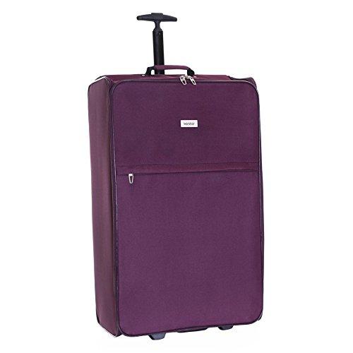 Karabar Alvik Gran maleta plegable de 73 cm, Púrpura