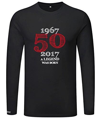 1967 - 2017 - 50 a legend was born - Geburtstag - Herren Langarmshirt Schwarz