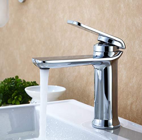 ROKTONG Faucet Hot and Cold Water Bathroom Cabinet Vanity Faucet Black Single Wash Basin Basin, B