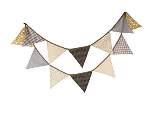 Affe réutilisable Fête de Noël Triangle fanion bannière Triangle
