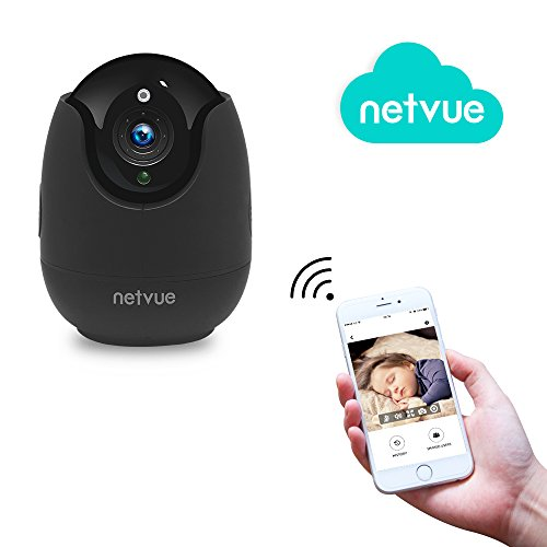 Home Security Camera,Compatible with Alexa Echo show 360 degree View,Netvue Wireless IP Camera with Motion Detection P/T/Z,TF Card Record,2 Way Audio and Night Vision, Baby monitor (PT 720P-B)