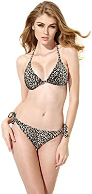 ELSA & ANNA® Mejor Calidad Último Estilo Señoras Mujer Cabestro Bandeau 2 Piezas Bikinis Conjuntos Trajes de baño Natación Disfraz Monokini ES-SWM-LPD407