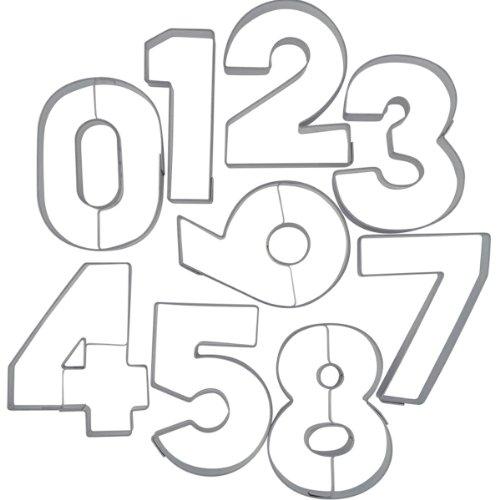 Städter 113299 Ausstecher Zahlen 9-teilig , Edelstahl