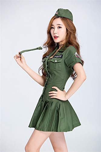Swat Kostüm Damen Cosplay Uniform Versuchung weibliche Spionage Offizier Uniform Spiel Kleidung Bar Party - Swat Offizier Kostüm