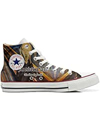 Converse All Star Customized, Sneaker Unisex, printed Italian style Urlo di Munch