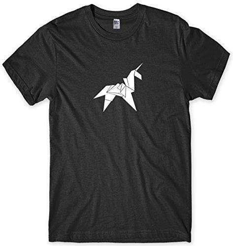 Origami Unicorn Mens Funny Unisex T-Shirt