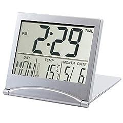 Idea Regalo - TRIXES Orologio Digitale da Tavolo LCD Color Argento Temperatura Sveglia