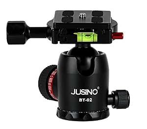 Khalia Foto JUSINO BT-02 Sehr stabiler Kugelkopf Stativkopf, 12kg Belastbarkeit, Aluminium schwarz