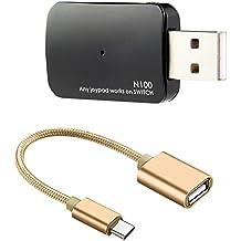 KOBWA USB Controller Konverter Gamepad Adapter mit Typ-C OTG Kabel für PS3/PS4/XBOX ONE/XBOX 360 Controller Kompatibel mit Nintendo Switch, Unterstützt TV-Modus und Handheld-Modus