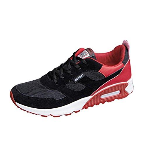 beautyjourney Scarpe Antinfortunistiche estive Uomo Scarpe Uomo Sneakers Scarpe da Ginnastica Uomo Scarpe da Corsa Uomo Sportive Scarpe da Lavoro Uomo - Uomo Scarpe da Viaggio Uomo (41, Rosso)