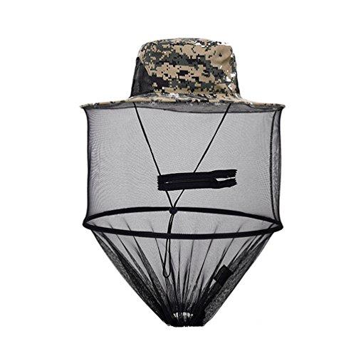 Dooxi Atmungsaktiv Verstellbar Camouflage Hut Outdoor Anti-Moskito Biene Wanze Insekt-Fliege Angeln Maske
