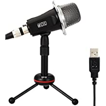 TONOR USB Micrófono de Condensador Profesional de Sonido Podcast Estudio para PC portátil