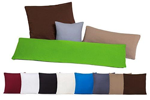 Pacco doppio Copricuscini Copricuscino Federe con chiusura a zip in 100% cotone - 10 colori e 4 grandezze marrone / cioccolato 80 x 80 cm