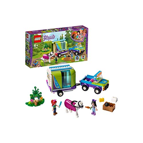 LEGO 41371 Friends Mia's Horse Trailer Toy, Stable Extension Set, 4 x 4 Buggy, Mia and Emma Mini Dolls Best Price and Cheapest