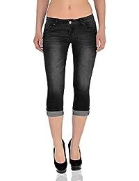 f2599893c6ea8 by-tex Jean Femme Capri Pantalon pour Femmes Capri Femmes Jean en Grandes  Tailles J242