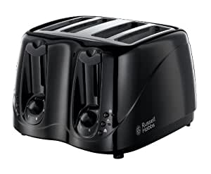 Russell Hobbs 4-Slice Compact Toaster 14340 - Black
