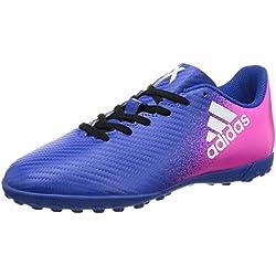 adidas X 16.4 Turf, Scarpe da Calcio Unisex – bambini, Blu (Azul/Ftwbla/Rosimp), 38 2/3 EU