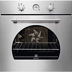 Horno eléctrico ventilado multifunción con grill 72Litros Clase A ancho 60cm función Pizza Color inoxidable-FR 65x infispace-Linea rústico