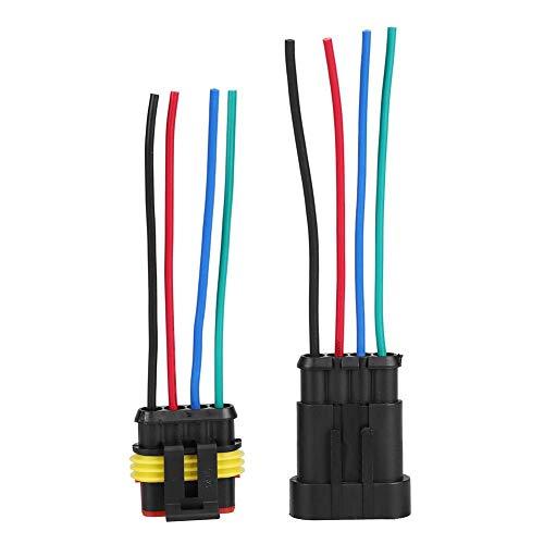 Nuovo kit di 53/4/5/6pin way impermeabile 4-line 4P auto auto Cavo di collegamento spina elettrica con cavo AWG marine