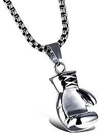 FEYCH - Collar con Colgante de Guante de Boxeo de Acero Inoxidable para Hombre y Mujer