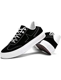 Toile Pour Hommes Casual Flat Baskets Chaussures Lace Up Sneaker Taille Standard