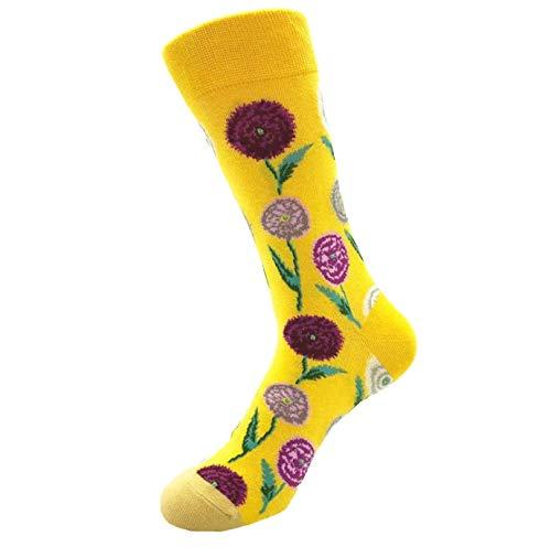 Maleya Socken aus Baumwolle Thermal Socken Erwachsene Unisex Socken Frauen Socken Dame Socken Mädchen Socken Lässige Socken Mode Männer Frauen Unisex Casual Cotton Print Mittlere Strümpfe Socken