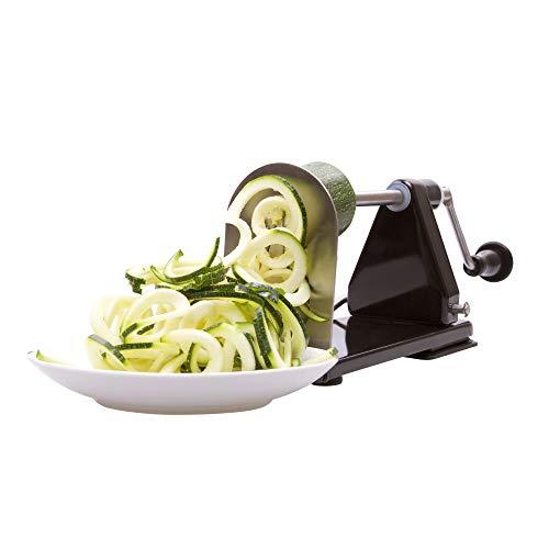 Impeccable culinary objects (ico) ico affettaverdure, affettafrutta, spirali tagliaverdure (spiralizer alluminio)