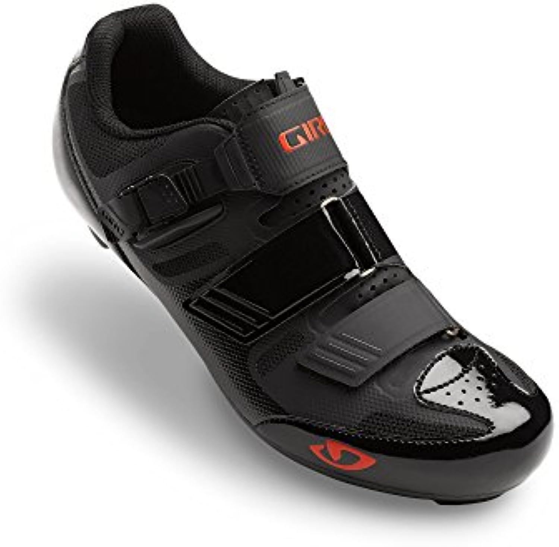 Giro Apeckx II Road, Zapatos de Ciclismo de Carretera para Hombre, Multicolor (Black/Bright Red 000), 44.5 EU  -