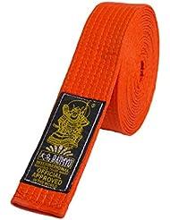 Daimyo Cinto Simple Cinturón de Artes Marciales, Hombre, Naranja, L