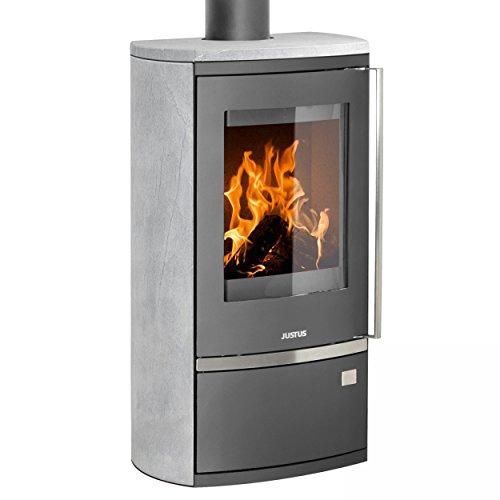 Justus Kaminofen Reno R gussgrau Speckstein (Gas Appliance Kamin)