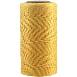 Cordones de hilo Macramé de nailon encerado para joyería, 260 m, 1 mm, amarillo