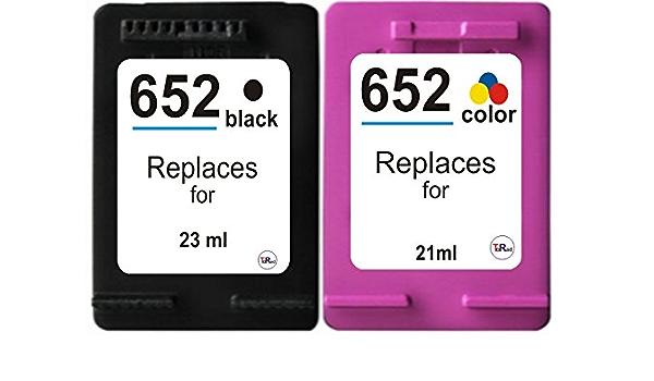 2x Kompatible Tintenpatronen Für Hp 652 Xl Und 652 Xl Dj 1115 2135 3635 Bei Nano Bürobedarf Schreibwaren