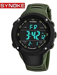 sportuhr synoke Nuevo Impermeable de los Hombres Reloj Deportivo multifuncion Reloj electronico 9638 montañismo Corriendo