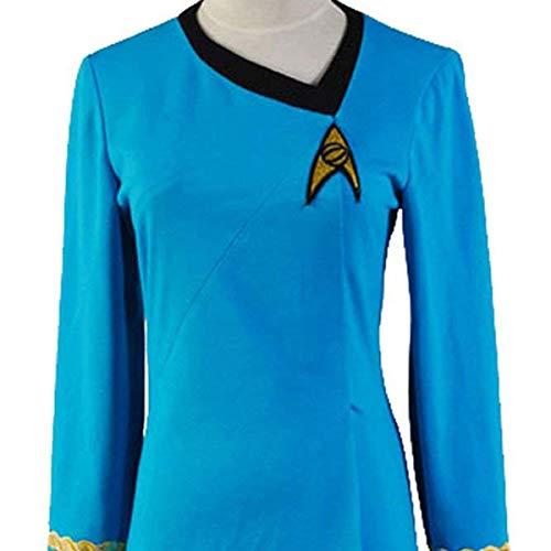 DingChen Uniform Kleid TOS Kostüm Blau Damen