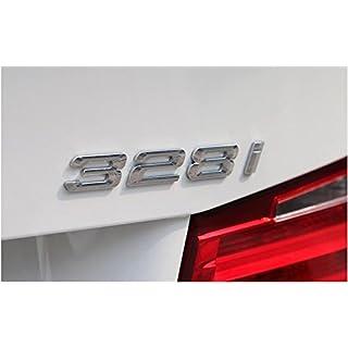 E704 328i Emblem Badge auto aufkleber 3D Schriftzug hinten Abzeichen Car Sticker Zahlziffer