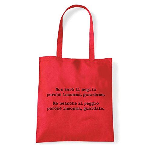 Art T-shirt, Borsa Shoulder Guardate, Shopper, Mare Rosso