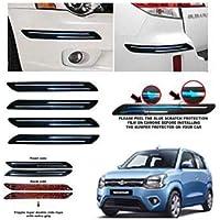 BUY HAPPYAMMY SHOP Bumper Protector Guard Double Chrome Strip 4PCS Black (for Maruti Suzuki New Wagon R)