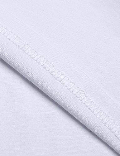 Coofandy Herren Rüschen Schalkragen ärmellose Jacke lange Strickjacke Weste Weiß