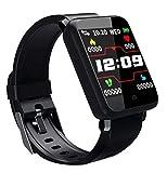 F1 1.44 '' TFT Pantalla táctil a color IP67 Impermeable Reloj inteligente Monitor de presión arterial Cámara Control remoto Buscar Función de teléfono Fitness Sport Pulsera - Negro