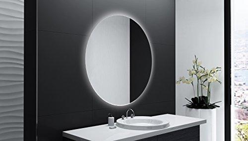 Badspiegel Designo Rund MAR113 mit A++ LED Beleuchtung - 80 cm - Made in Germany - TIEFPREISGARANTIE
