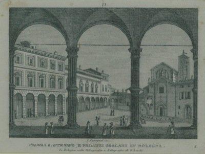 Piazza S.Stefano, e Palazzi Isolani in Bologna.