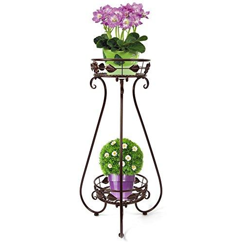 yuda-2-ripiani-in-metallo-vaso-per-piante-display-stand-fiore-per-interni-ed-esterni-patio-porta-3-c
