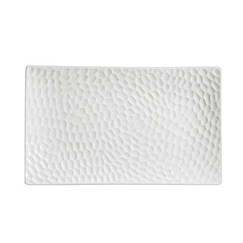 Table Passion - Assiette rectangle 20 x 12 cm dune (lot de 6)