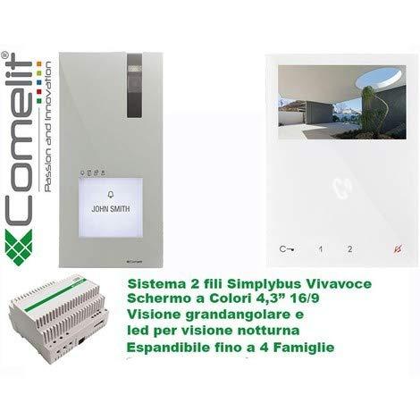 Video-Sprechanlagen KIT 1-Fam-Haus 8461V2-Draht, mit Quadra Türstation Aufputz Haus-video