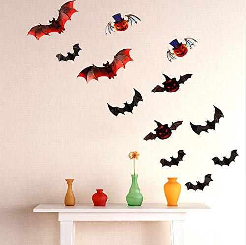 Yirenfeng Vinyl Removable 3D Diy Pvc Fledermaus Wandaufkleber Aufkleber Home Halloween Dekoration Heißer Verkauf