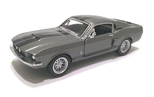 Scale 1/38 1967 Ford Shelby Mustang GT-500 diecast car Grey by Kinsmart