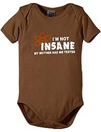 Touchlines I`M Not Insane - Body - Manches courtes - Mixte bébé