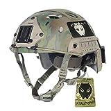 ATAIRSOFT Ajustable SWAT Combate PJ Tipo Casco Fast Multicam MC (M/L) para ejército Estilo Militar CQB Shooting táctico para Airsoft y Paintball
